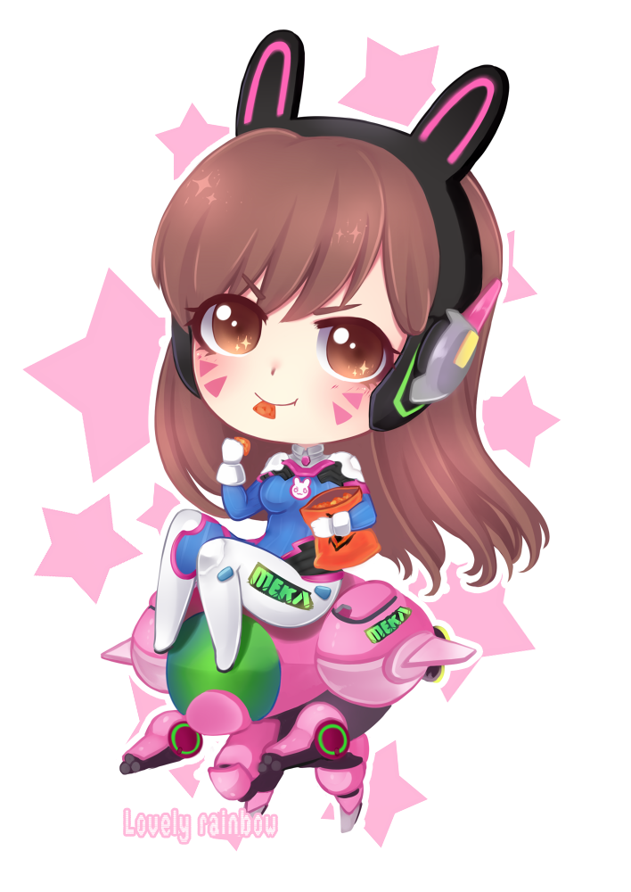 Chibi by cure rainbow. Dva overwatch png