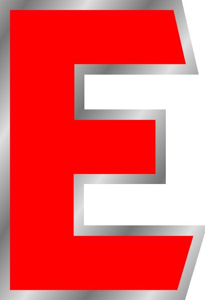 E clipart. Uppercase clip art at