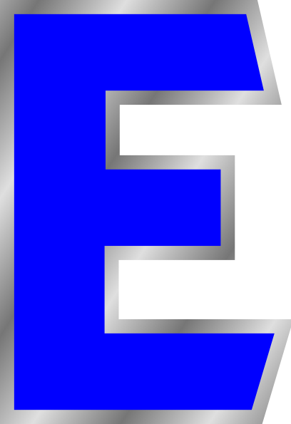 E clipart. Letter clip art at