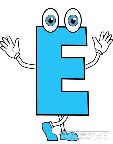 E clipart. Alphabets letter cartoon alphabet