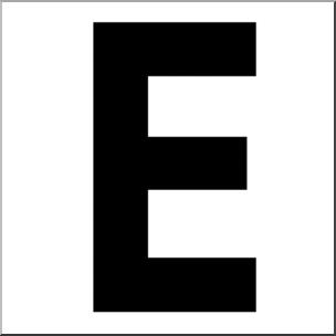 E clipart. Clip art alphabet set