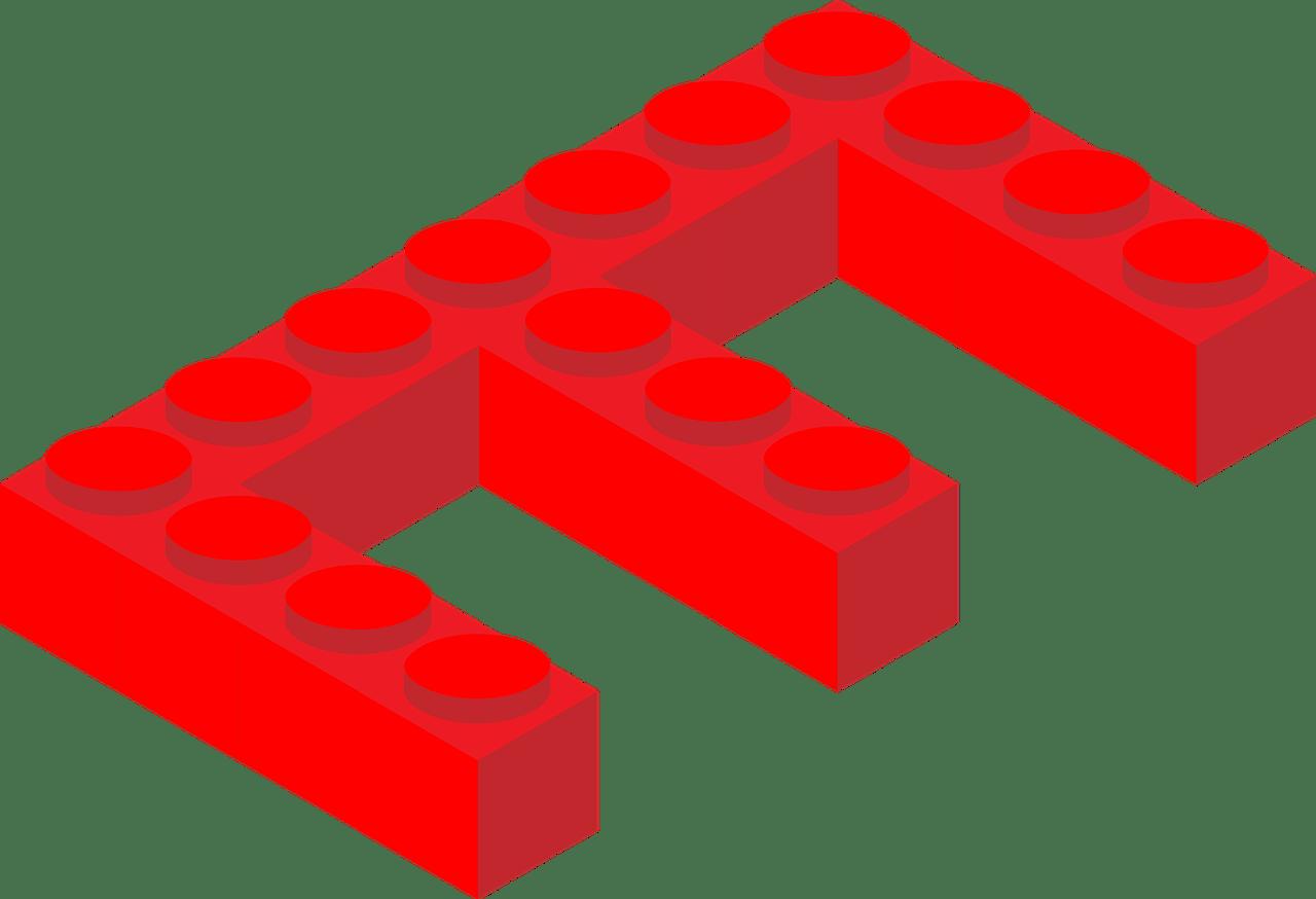 Lego letter e transparent. Legos clipart alphabet