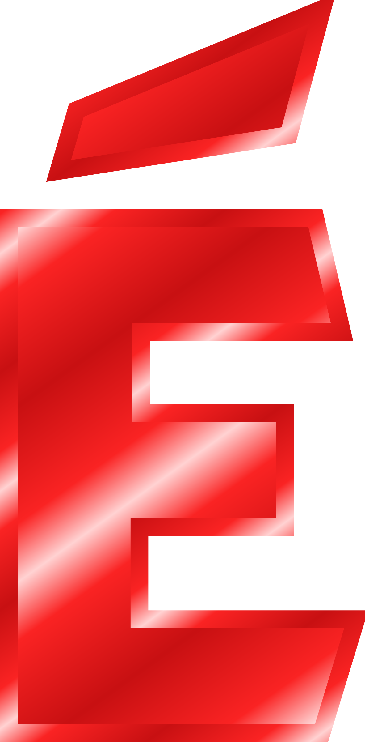 Effect letters red big. E clipart alphabet e