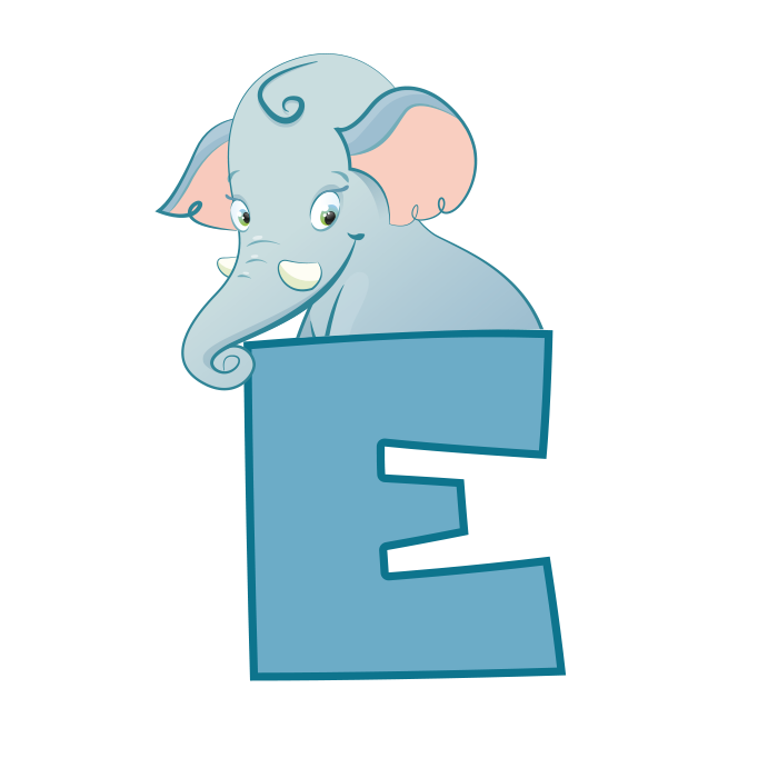 Animals with the letter. E clipart animal alphabet