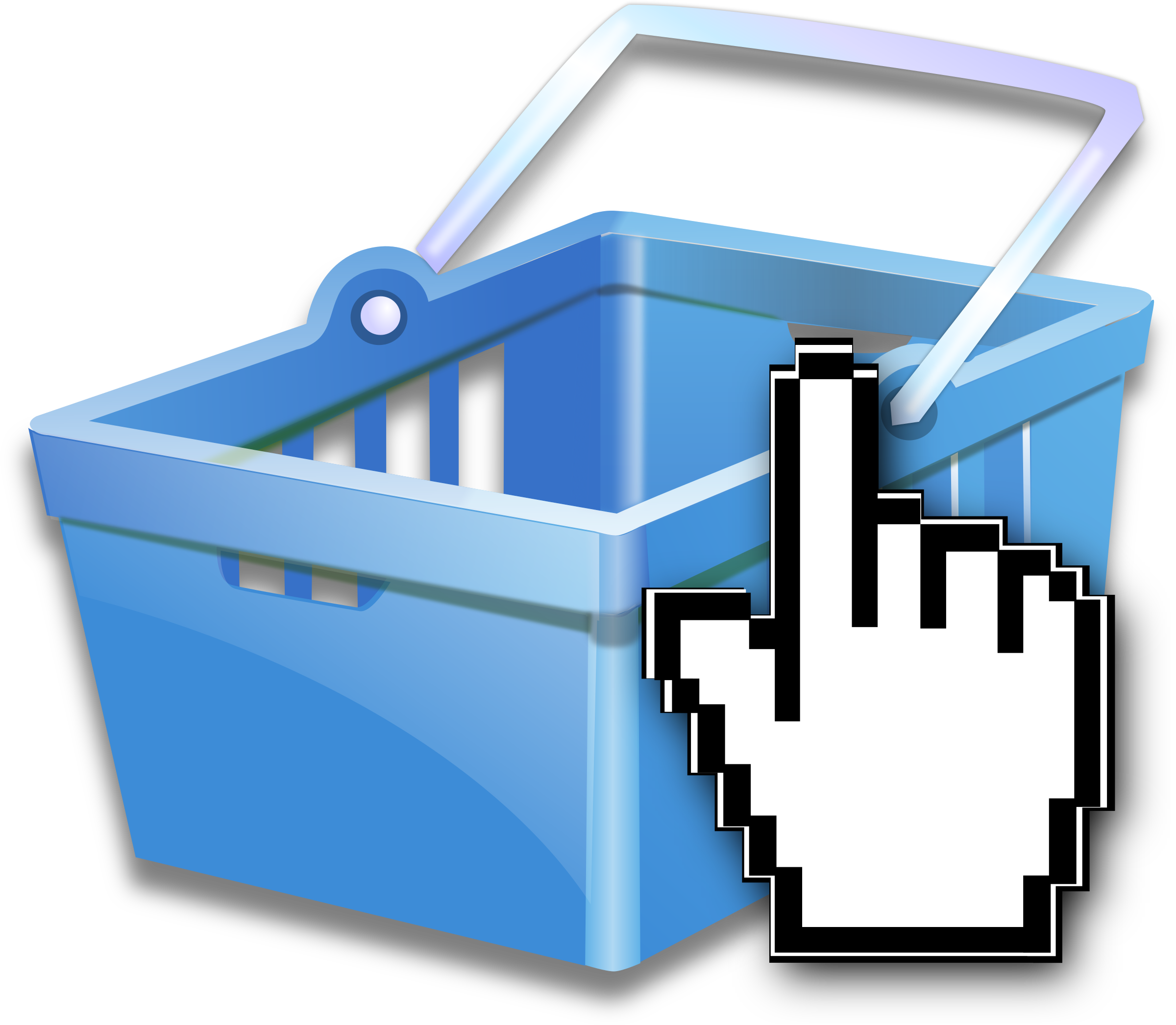Commerce group shopping basket. Words clipart business