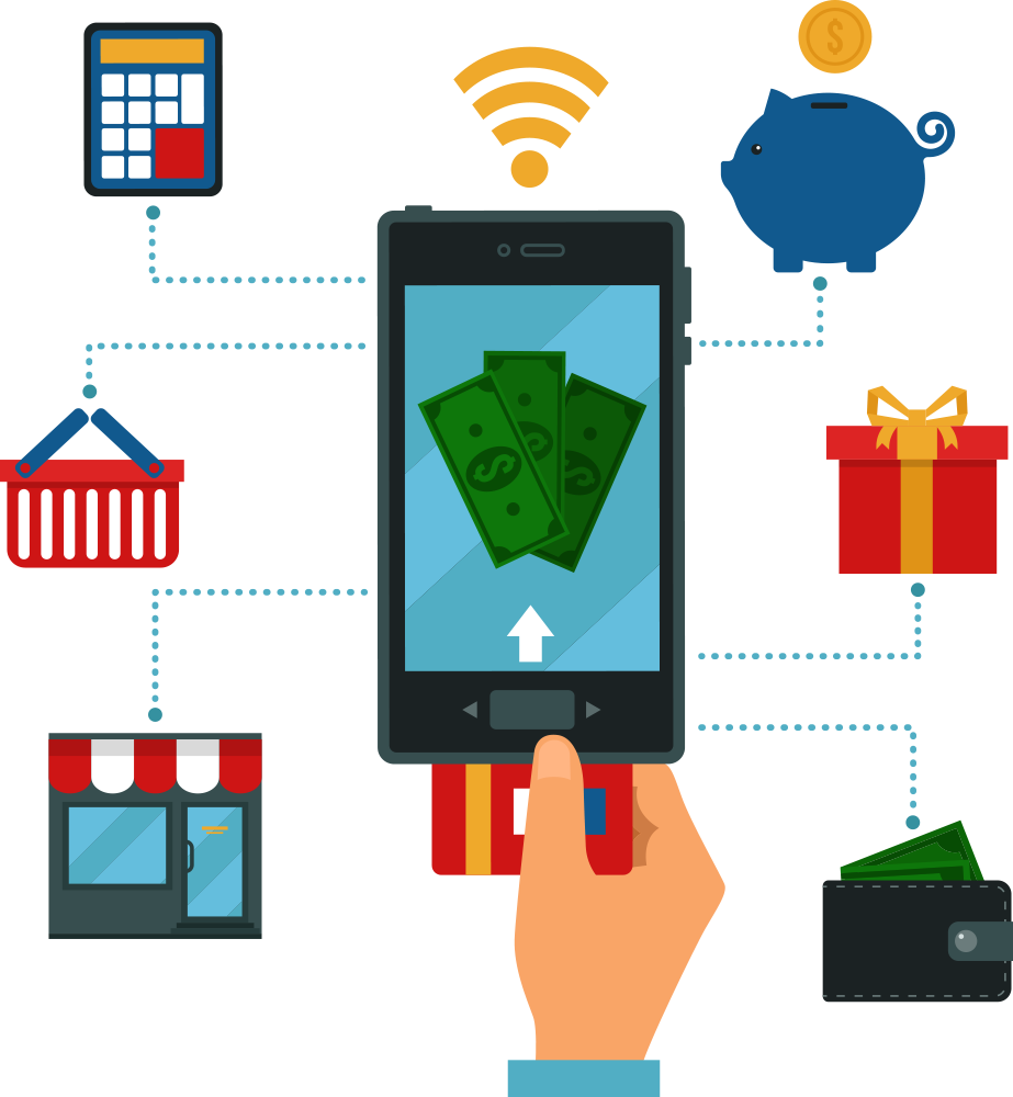 Online phone free on. E clipart banking