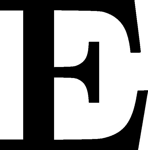 Cyrillic clip art at. E clipart black letter