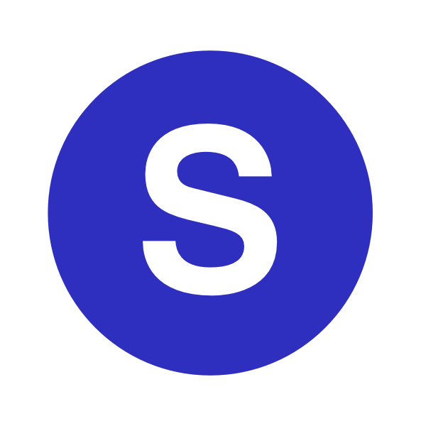 S in a cercle. E clipart blue letter