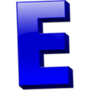 E clipart blue letter. Icon free images at