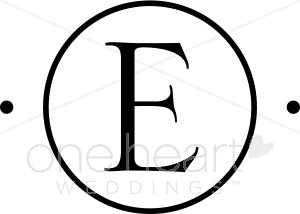 Monogram wedding monograms . E clipart circle