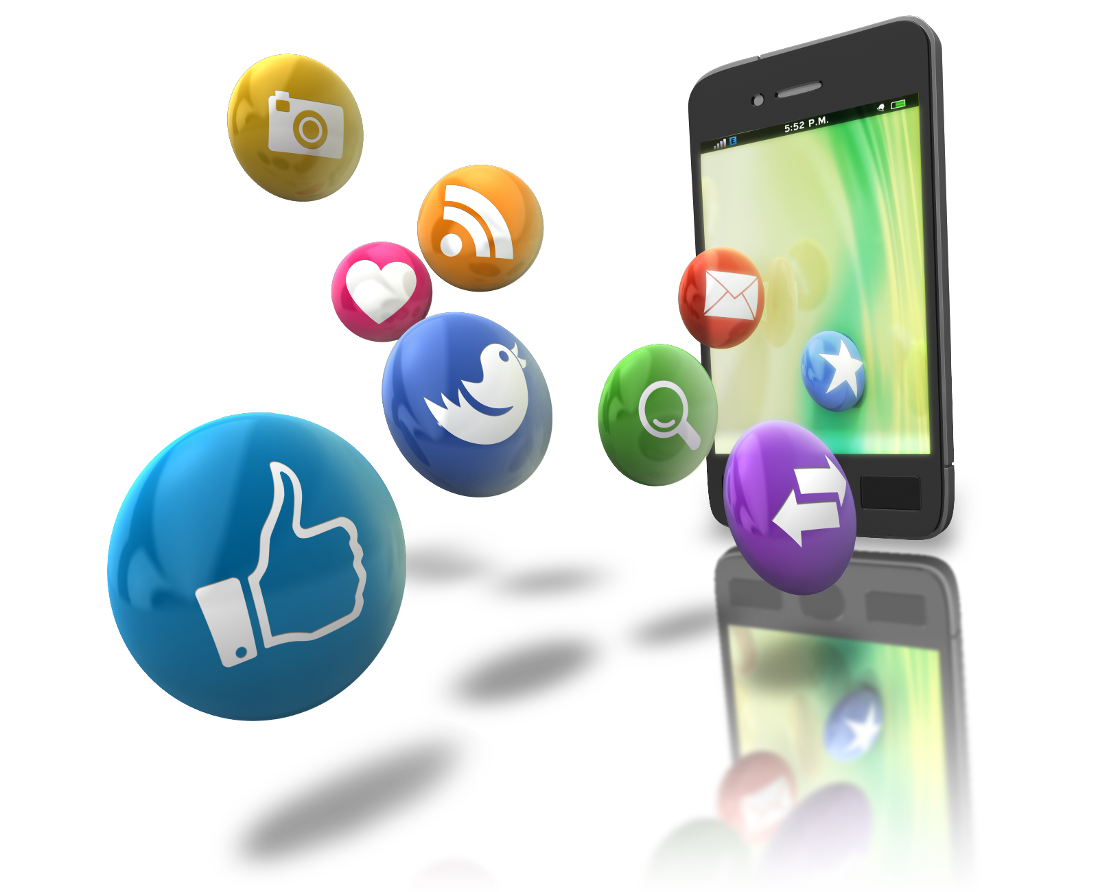 Mobile device data extraction. E clipart communication