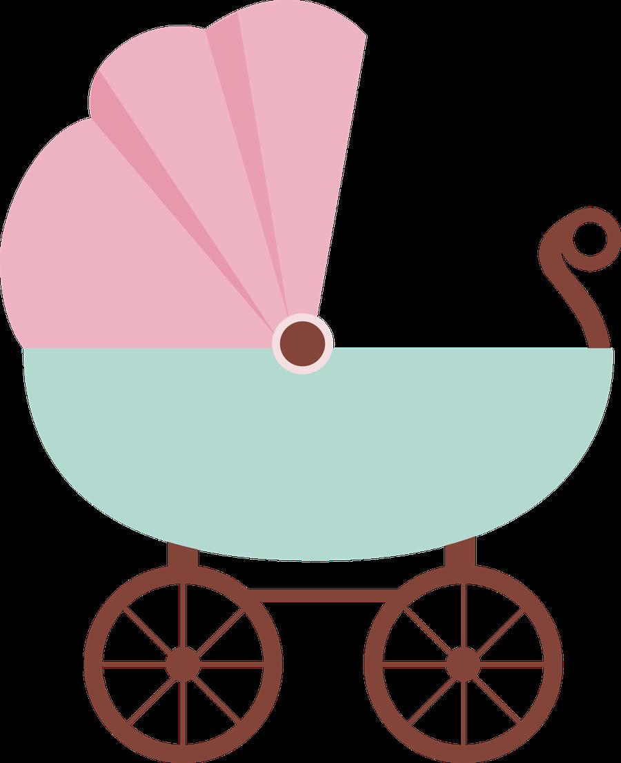 E clipart cute. Beb menino menina carriage
