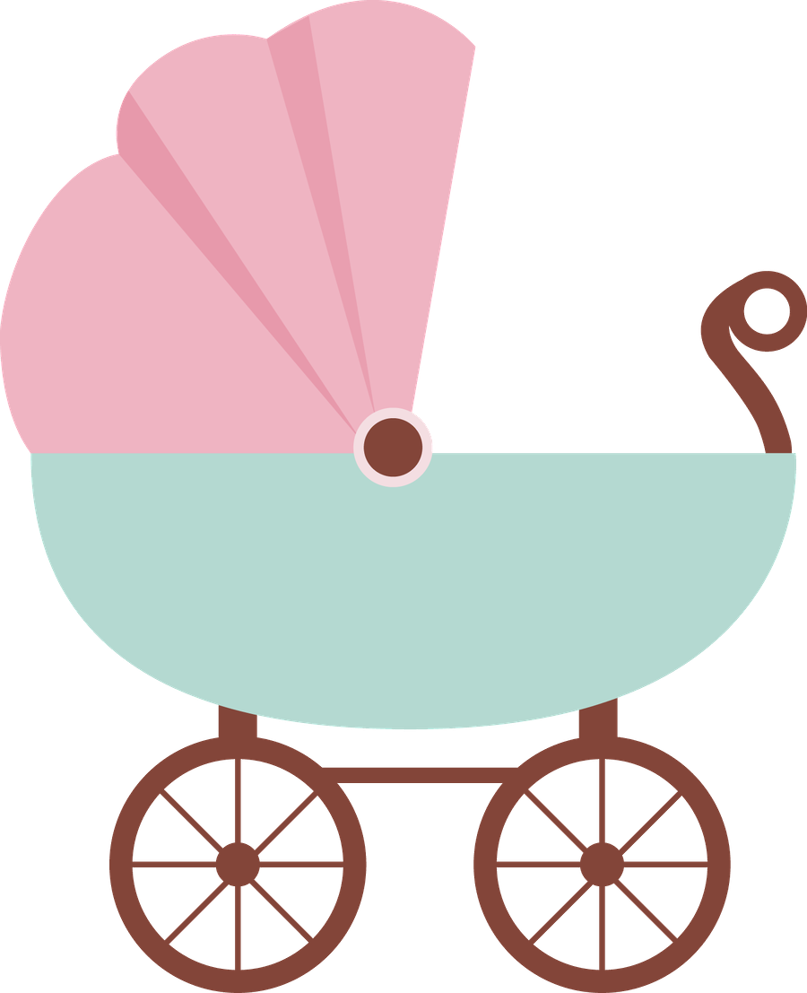 Ladybug clipart stroller. Beb menino e menina