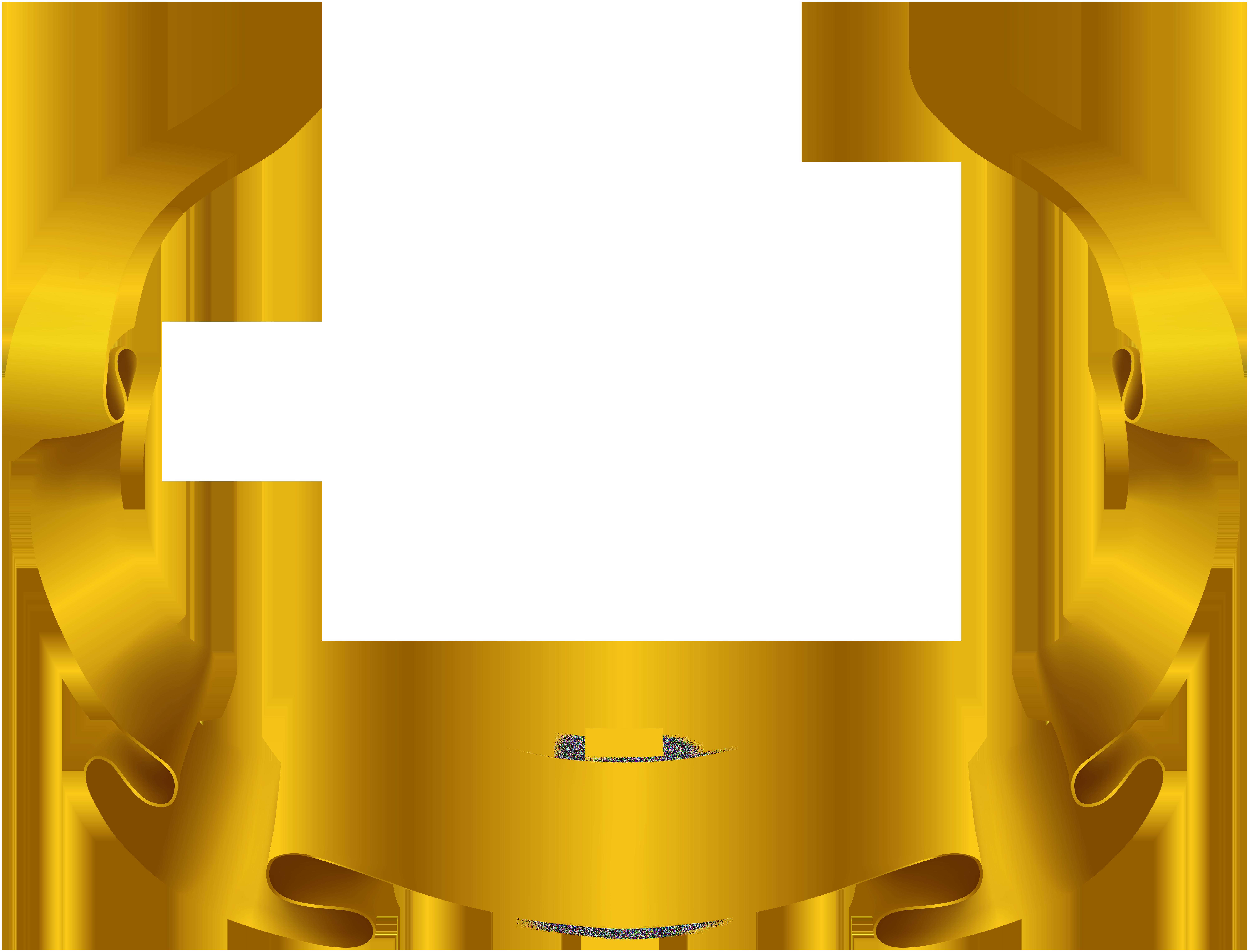 E clipart decorative. Banner gold transparent image