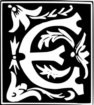 E clipart decorative. Free letter graphics
