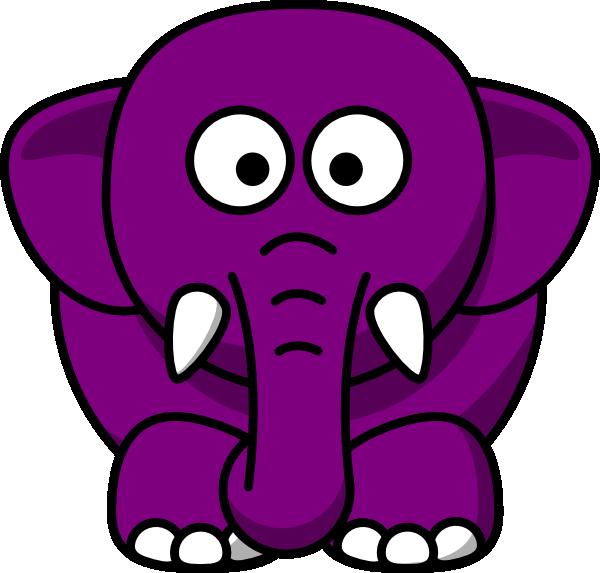 Purple clip art at. E clipart elephant