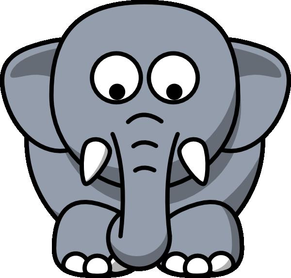 E clipart elephant. Looking down clip art