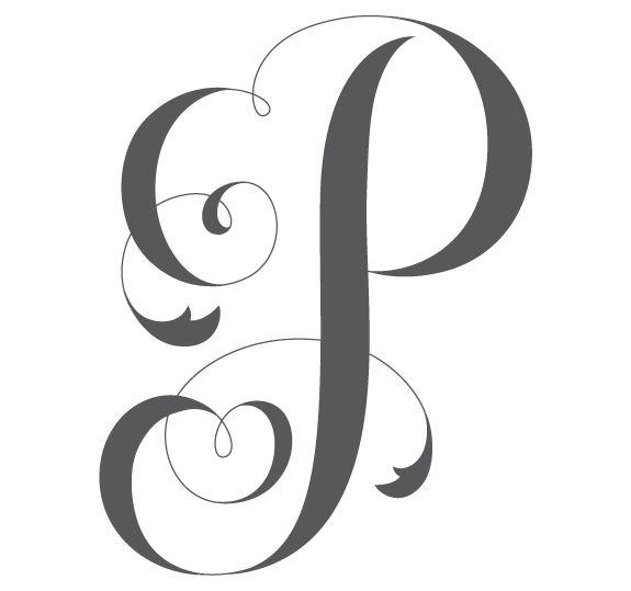 Una letra por d. E clipart fancy letter p