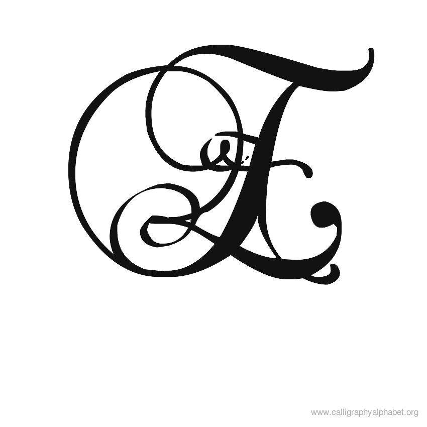 Calligraphy alphabet sample . E clipart fancy writing