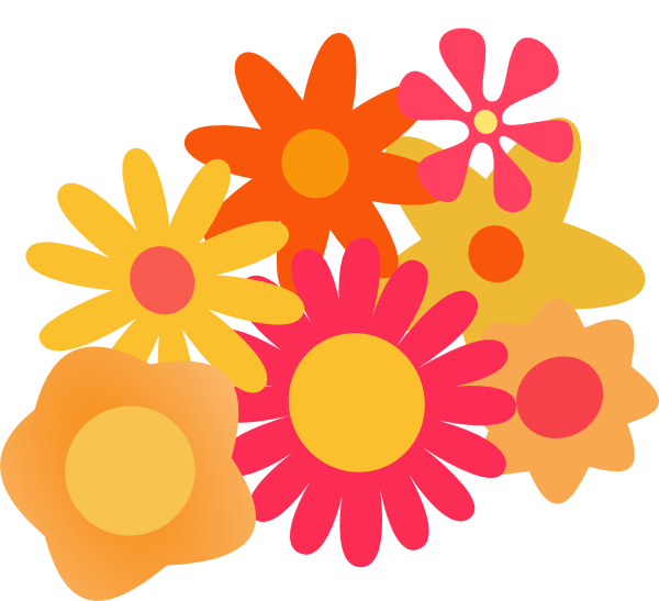 E clipart flower. Cluster clip art at
