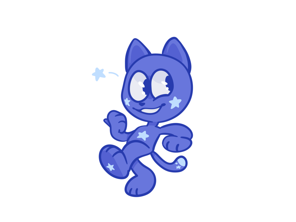 Star cat by pied. E clipart glitter