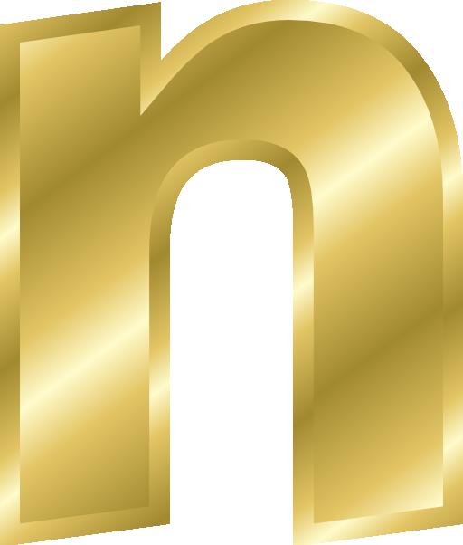 E clipart gold. Effect letters alphabet i