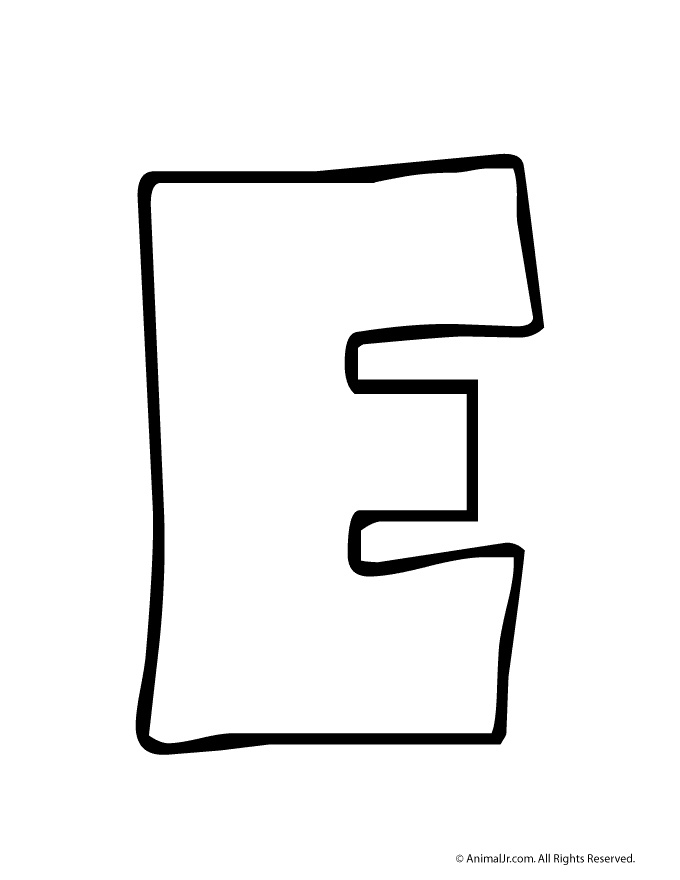 Black and white for. E clipart letter e