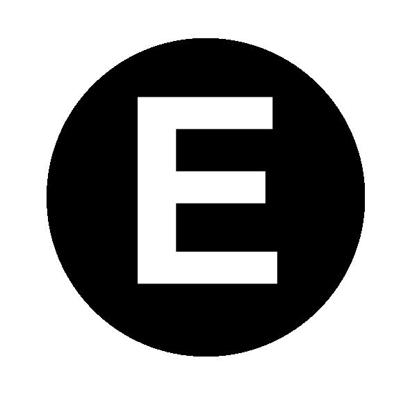 E letter e