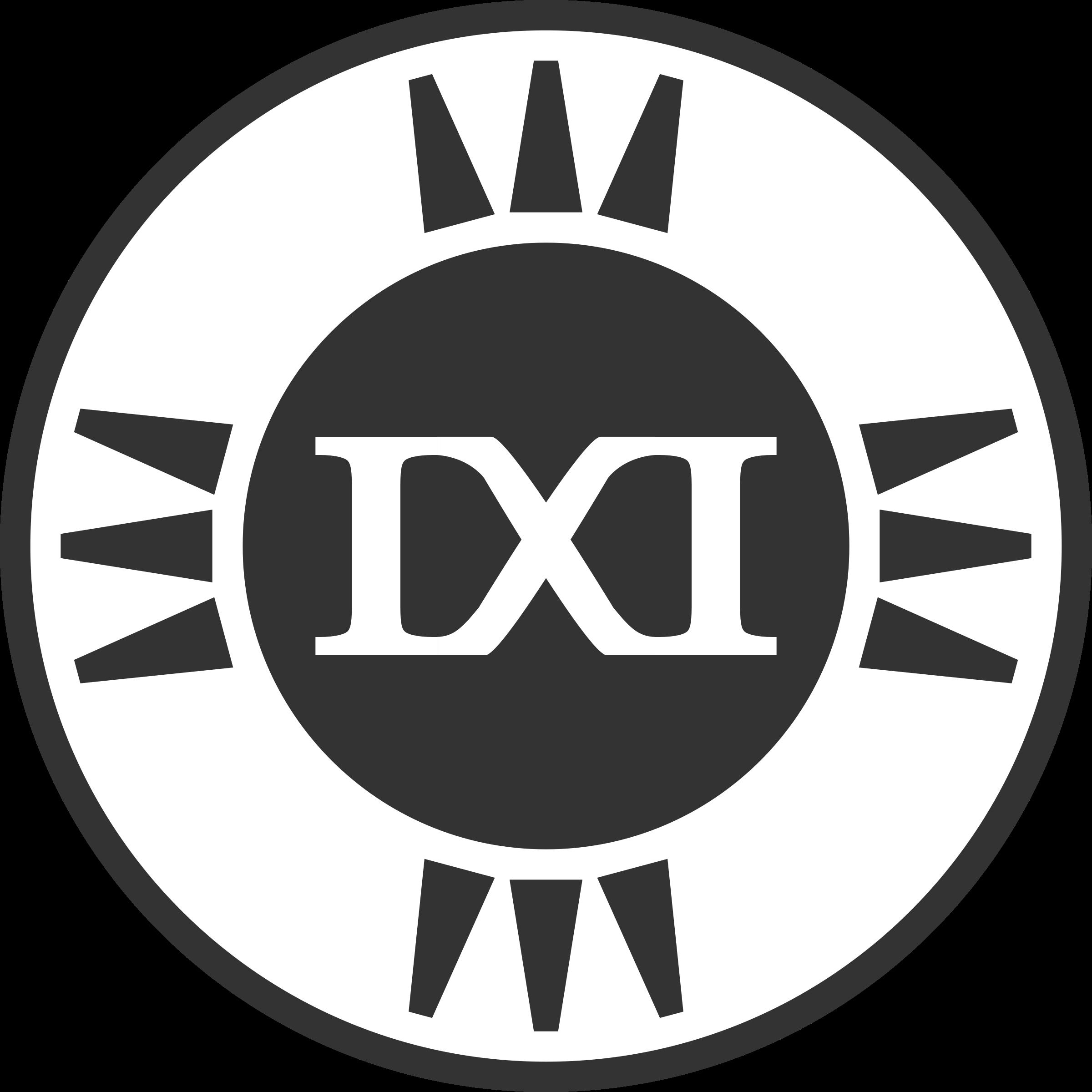 Fictional brand ixi variant. E clipart logo