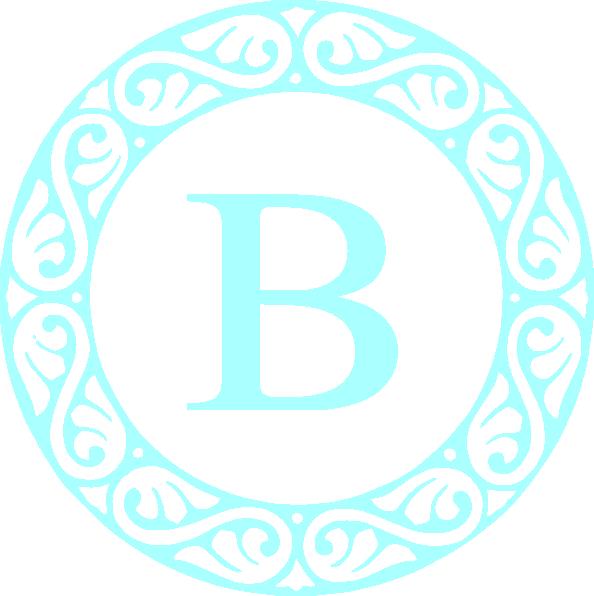 Letter b clip art. E clipart monogram