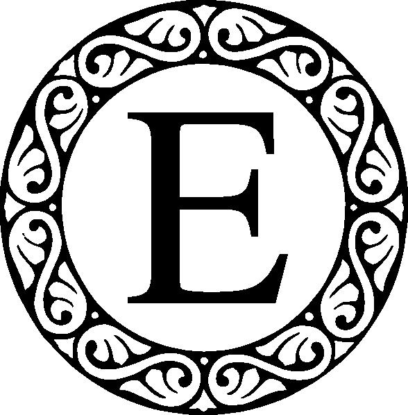 Clip art at clker. E clipart monogram