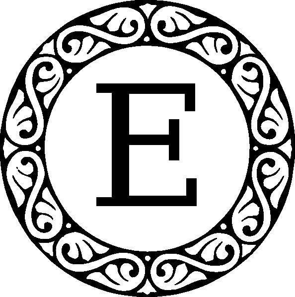 E clipart monogram. Letter clip art at