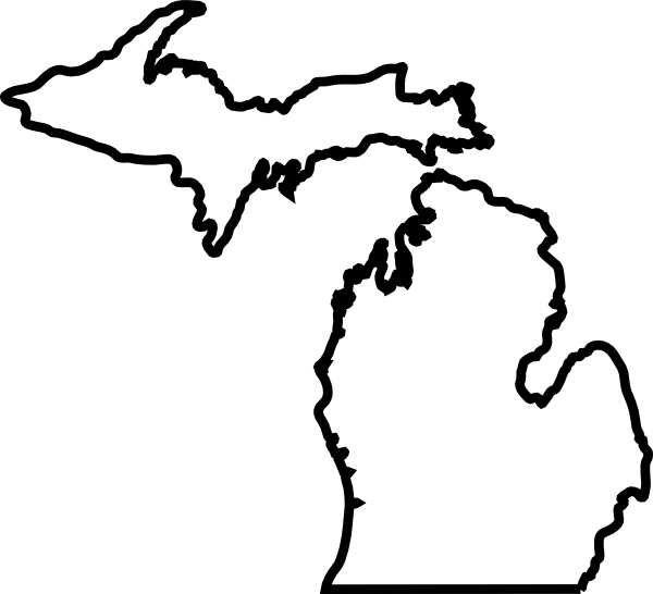 Spartan clipart michigan state. Map outline clip art
