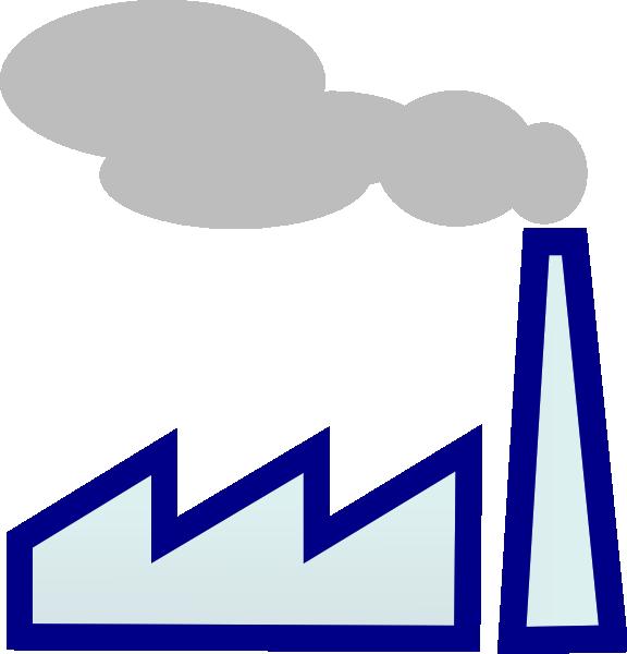 Blue factory clip art. E clipart outline