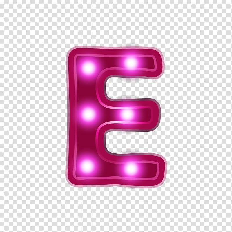 Free download letter marquee. E clipart pink