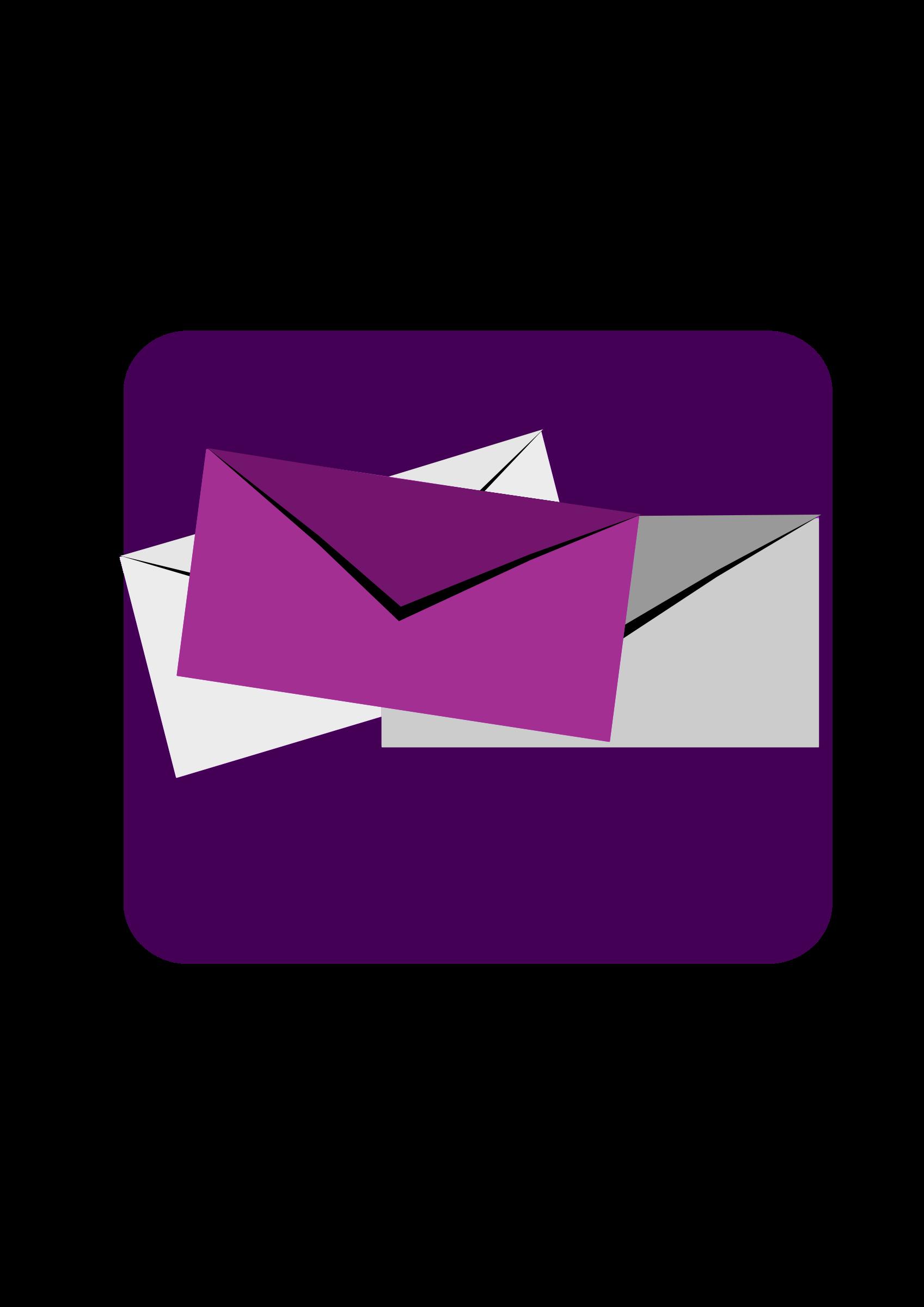 Sms big image png. E clipart purple