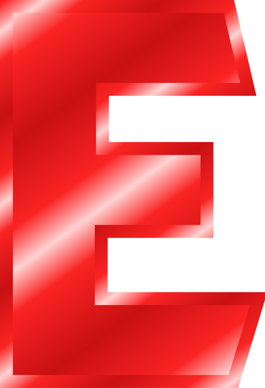 E Clipart Red Letter  E Red Letter Transparent Free For