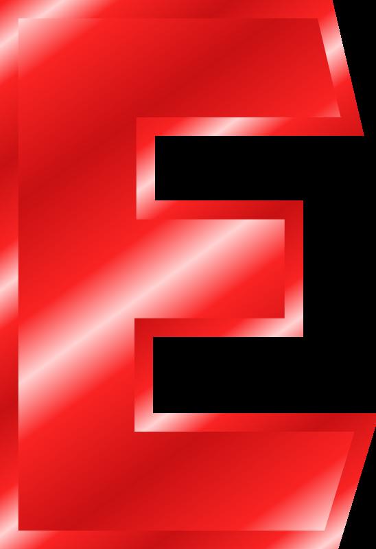 Text background alphabet transparent. E clipart red letter