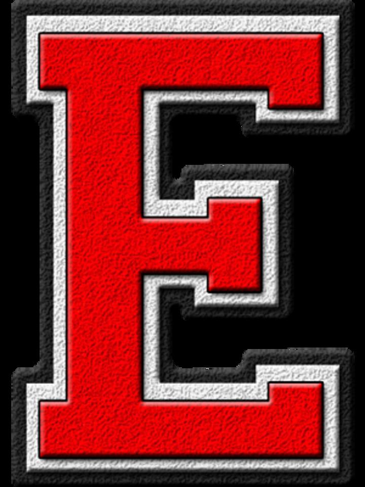 Oklahoma high school football. E clipart red letter