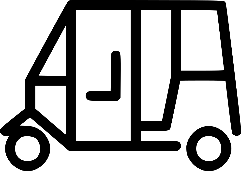 Auto png black and. E clipart rickshaw