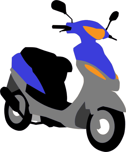 E clipart scooter. Blue i royalty free