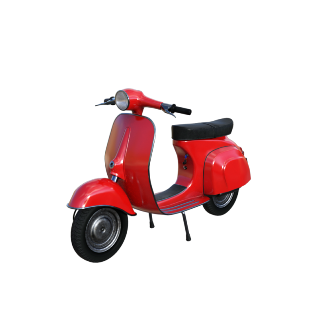Classic red vehicle png. E clipart scooter