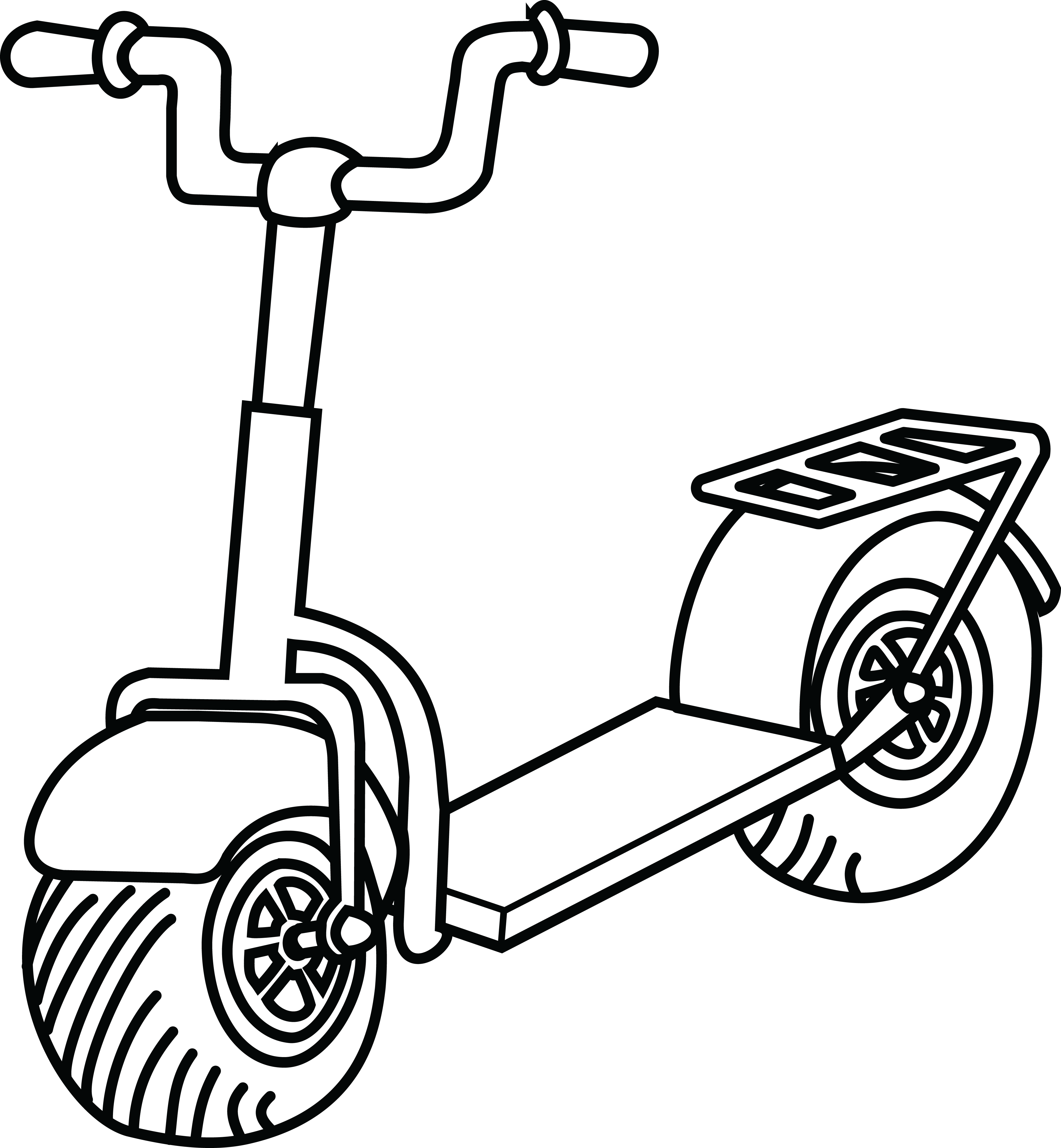 Moped group free of. Scooter clipart cute