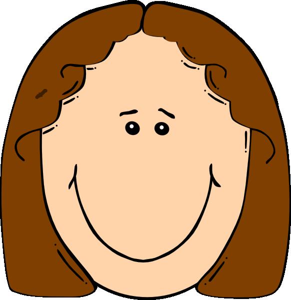 E clipart short. Happy girl brown clip