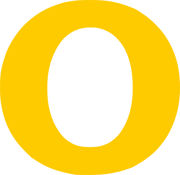 E clipart single letter. O yellow clip art