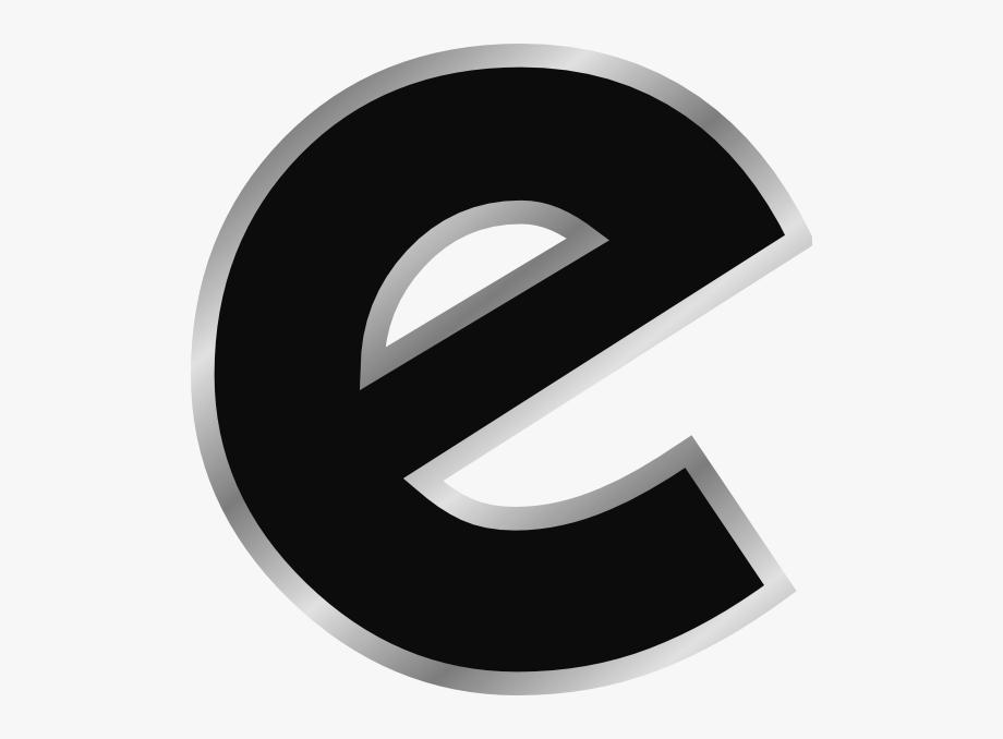 E clipart small. Letter design clip art