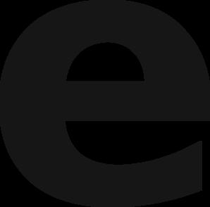 Symbol grey clip art. E clipart small