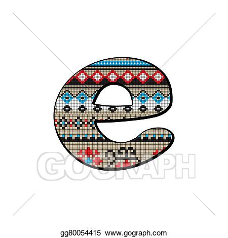 E clipart small. Stock illustration letter gg