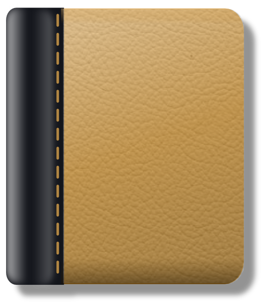 E clipart wallet. Leather notebook clip art