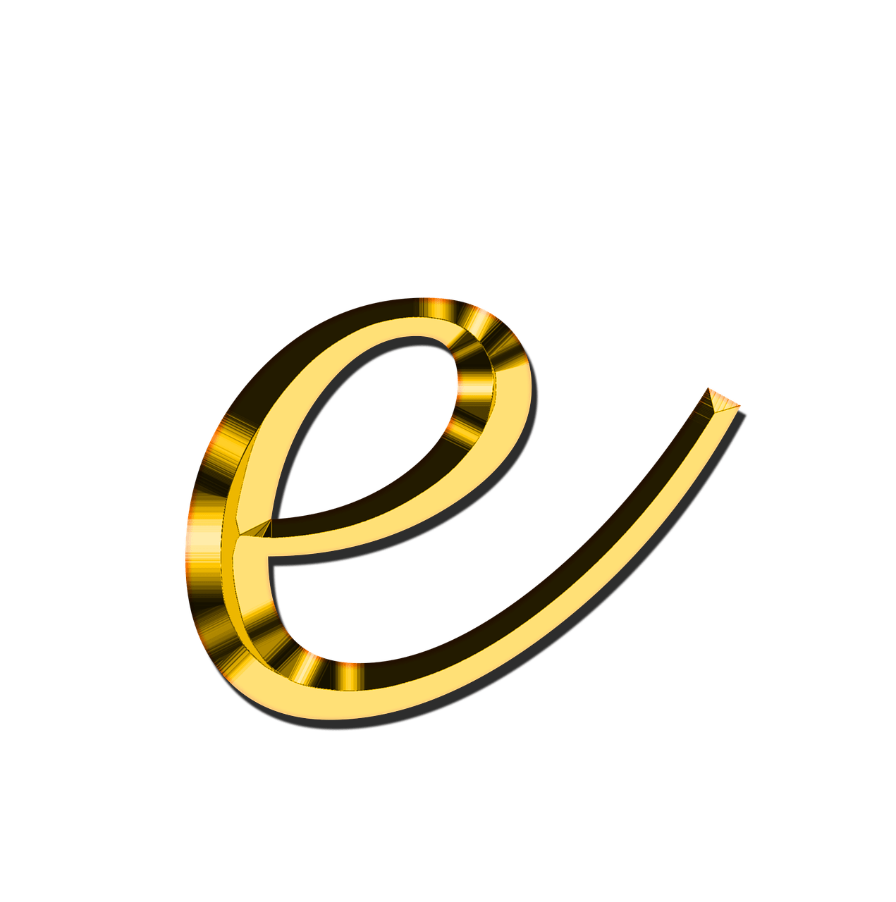 E clipart yellow letter. Small transparent png stickpng